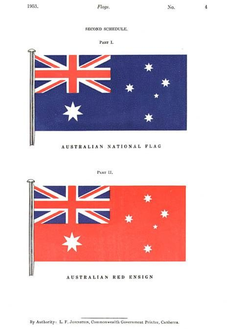 The Flags Act 1953 Specified The Blue Ensign As The Australian National Flag And The Red Ensign As The Merchant Shipping Fl Australian Flags Flag National Flag