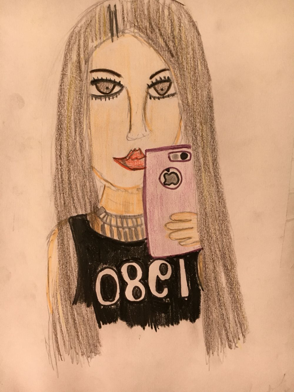 dibujos girl cool me pintar lapiz colores cool fashion