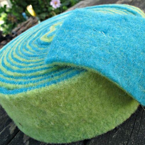 100% Wool Felt Rolls - 2-tone Felt - Green & Green - 1 metre - £4.00 www.blomingfelt.co.uk
