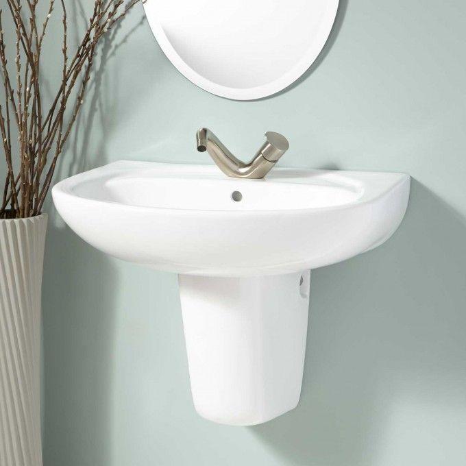 Bon Ainsworth Wall Mount Semi Pedestal Sink