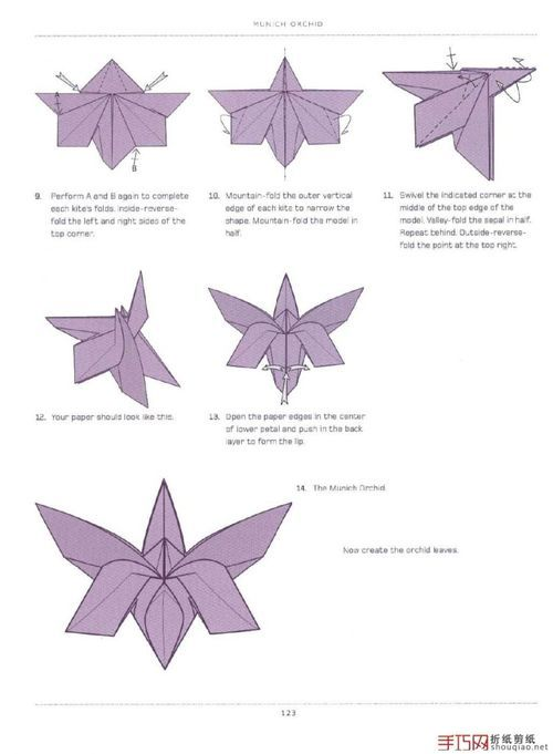 Origami Orchid Flower Folding Instructions Instruction