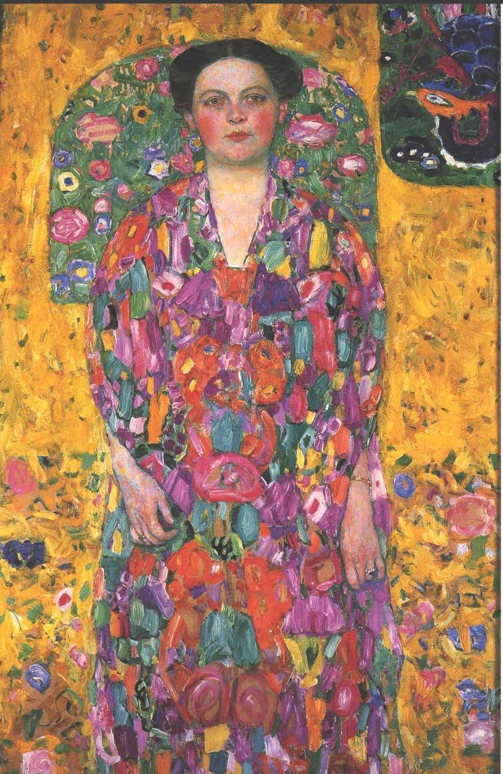 A4 Portrait of Ria Munk Gustav Klimt 1917 Poster Canvas Picture Art Print A0