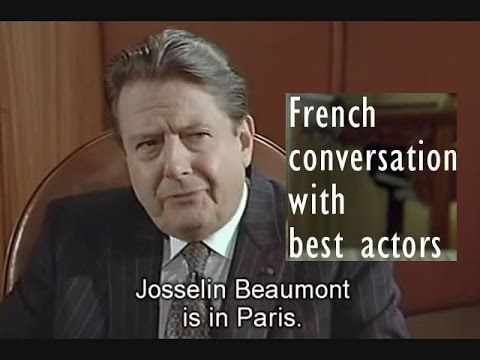 lesson 2-a: french conversation with subtitles: learn phrases with Belmondo