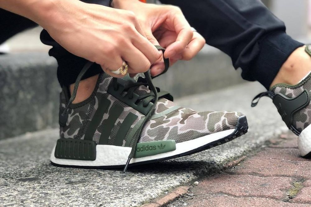 6a391dba9 adidas NMD R1 -  Duck Camo  Trace Cargo   Base Green Trainers All Sizes Bape