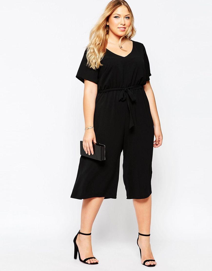 ab73a2d8465a Plus Size Culotte Jumpsuit | Plus Size Fashion | Fashion, Jumpsuit ...