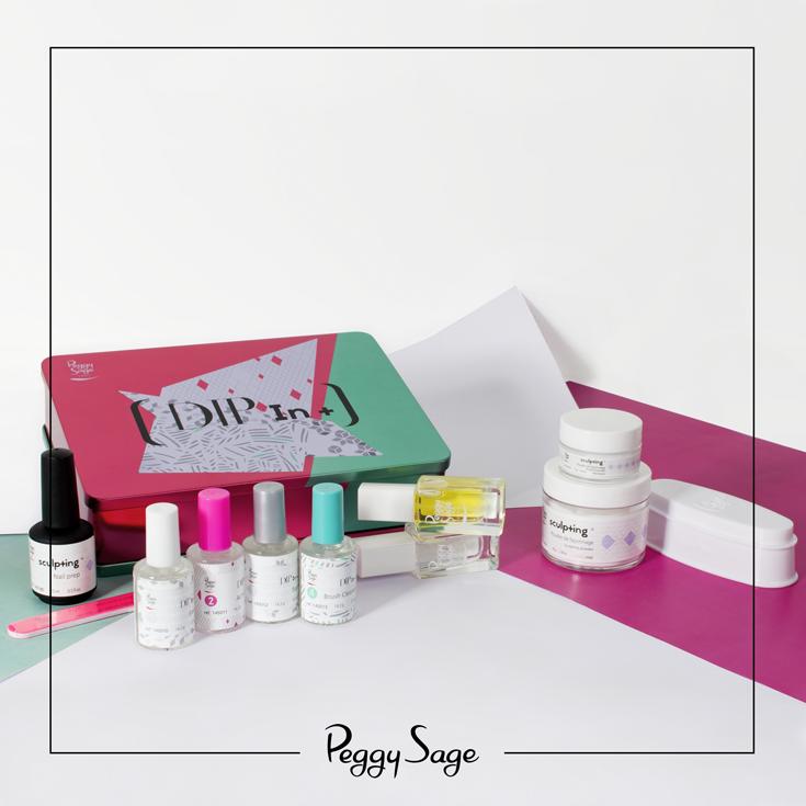 Kit Dip In Peggy Sage Lampe Uv Led Et Manucure Originale