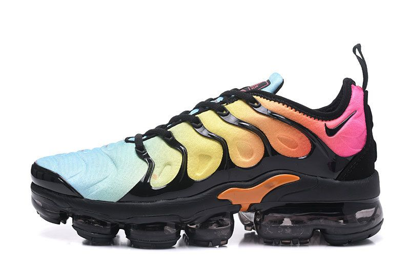 sale retailer 45a9f 86629 New Nike Air Vapormax 2018 Tn Plus Rainbow Blue Black Women Men