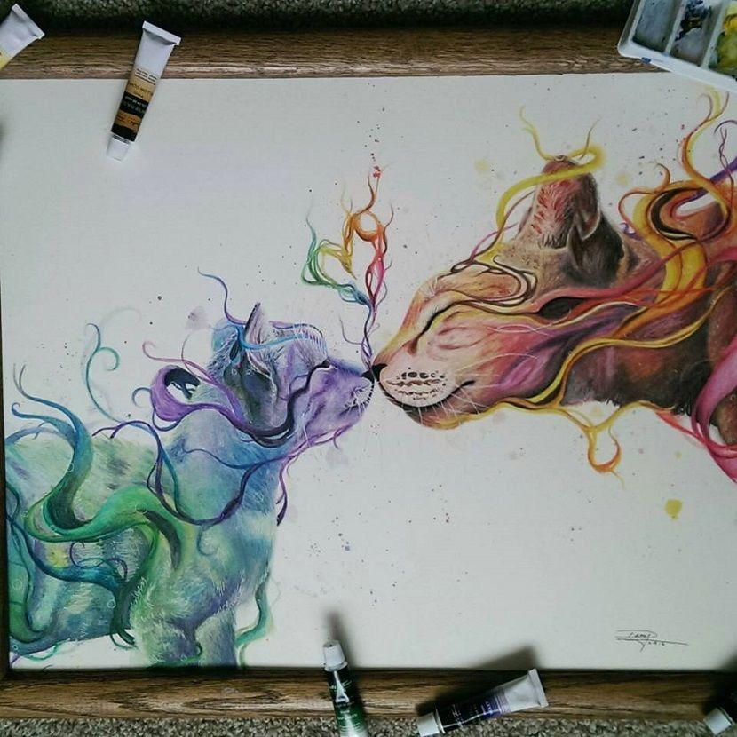 Dany Lizeth Con Sus Lápices De Colores Y Su Acuarela Esto Es
