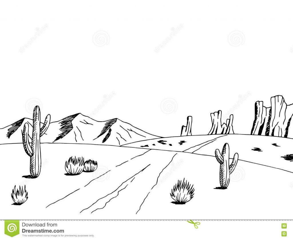 Desert Drawing Fresh Landscape Drawings How To Draw A