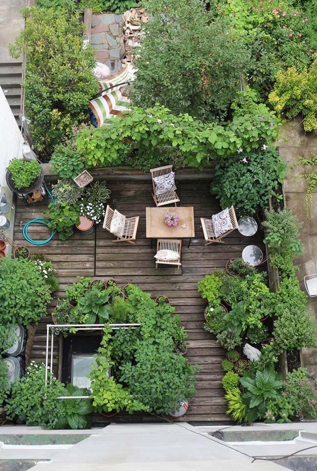 Kleiner Garten: 60 Modelle und inspirierende Designideen - Neu dekoration stile #apartmentgardening