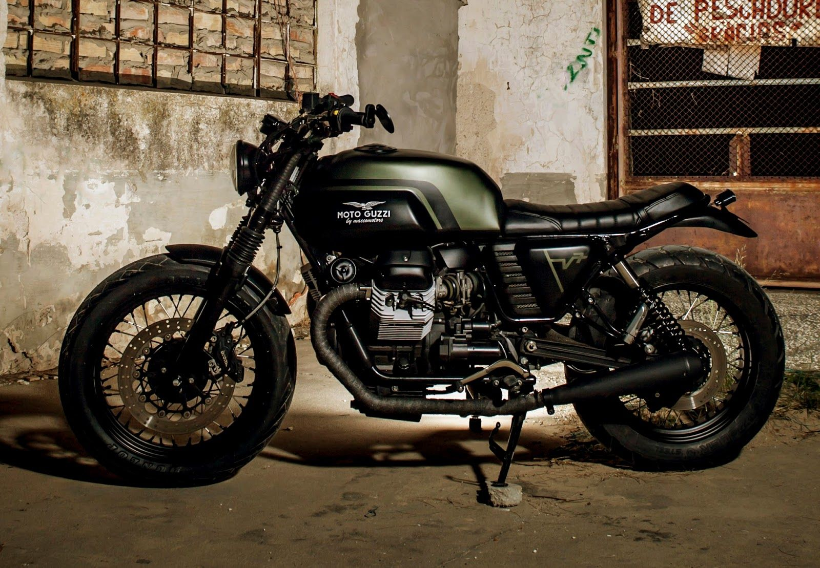moto guzzi v7 classic by macco motors bike harley. Black Bedroom Furniture Sets. Home Design Ideas