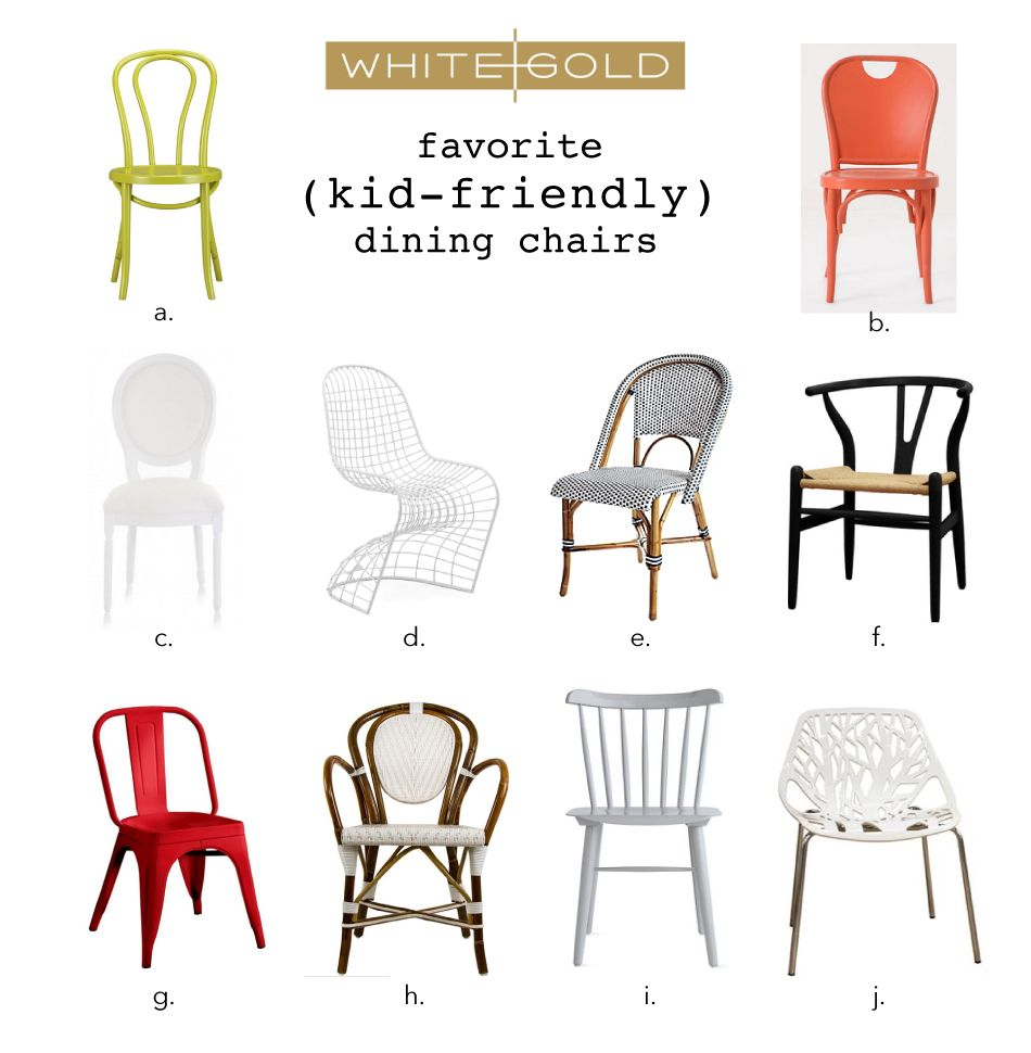 White Gold Our Fav Kid Friendly Dining Chairs Dining Chairs Dinning Room Chairs White Dining Chairs
