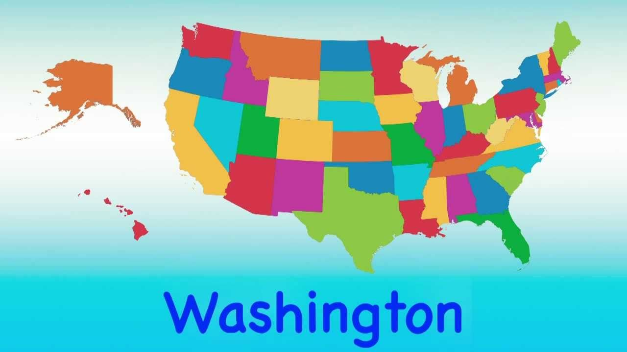 50 States That Rhyme Song Fun Learning Sing Along Teaching Ch