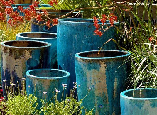 I cant get enough blue pots.