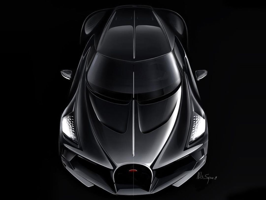 2019 Bugatti La Voiture Noire Sketches By Etienne Gallery: Pin On Exterior-Car Design-Sketch