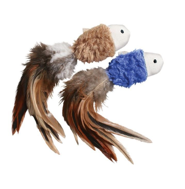 Kong Crinkle Feathers Catnip Fish Cat Toy 2 Ct Fish Cat Toy Kitten Toys Cat Toys