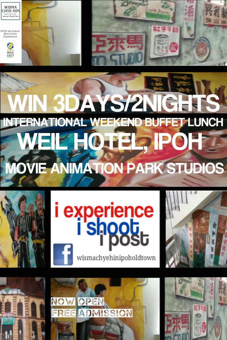 Win 3d 2n At Weil Hotel Ipoh Or Movie Animation Park Studios Or