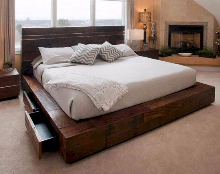 60 Lovely Bed Storage Ideas For Small Spaces In 2020 Platform Bed Designs Rustic Bedroom Furniture Contemporary Platform Bed