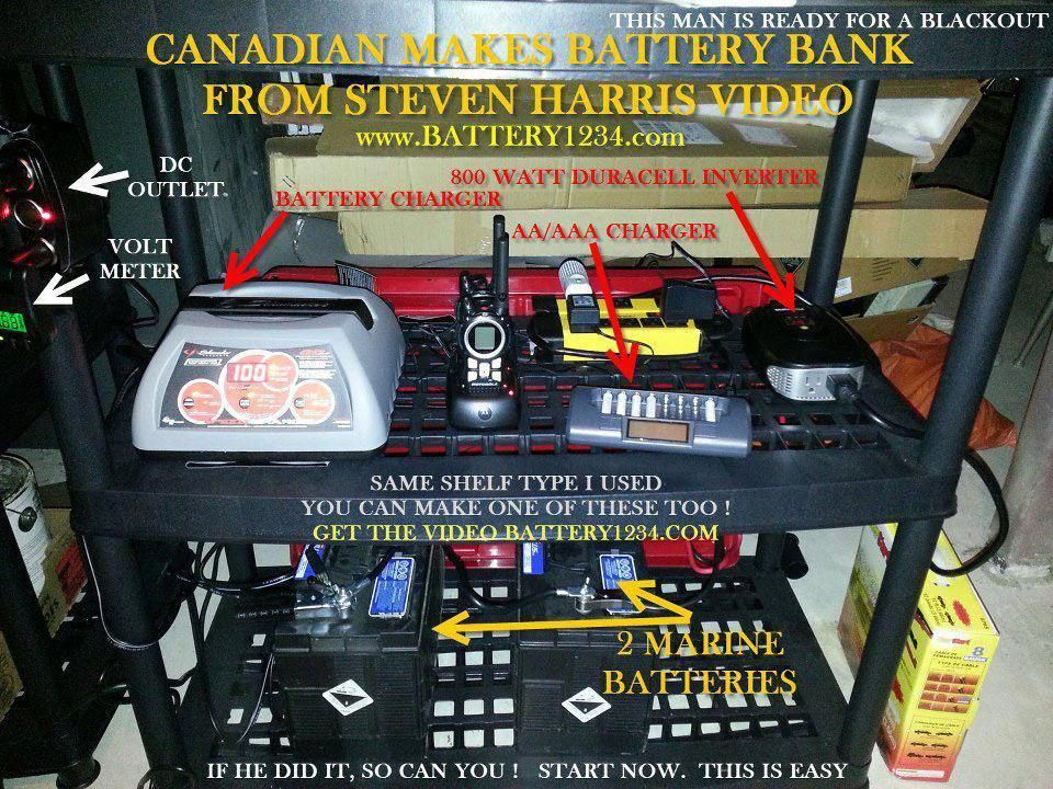 Complete Diy Battery Bank Power Station Battery Bank Battery Bank Diy Off Grid Power