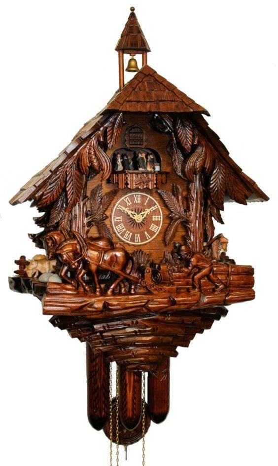 Black  forest Made in Germany Night-time shut-off IDEA Quartz Cuckoo clock