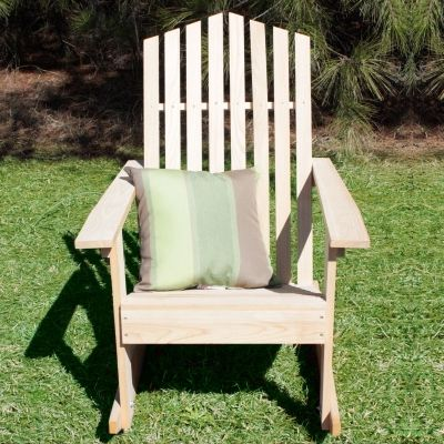Hometown Cypress Rocking Chair Mountain Back By Designed For Outdoors    Unstained/diy Paint