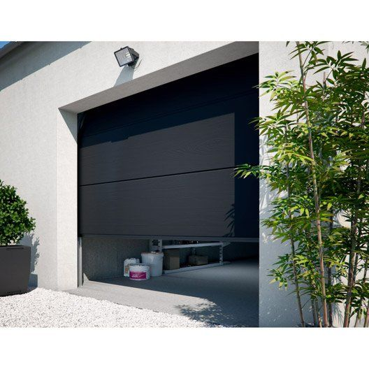 Porte De Garage Sectionnelle Motorisee Primo H 200 X L 240 Cm Porte De Garage Sectionnelle Porte Garage Et Garage