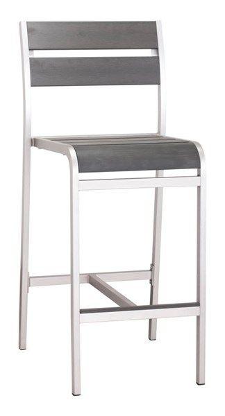2 Zuo Furniture Megapolis Vive Brushed Aluminum Bar