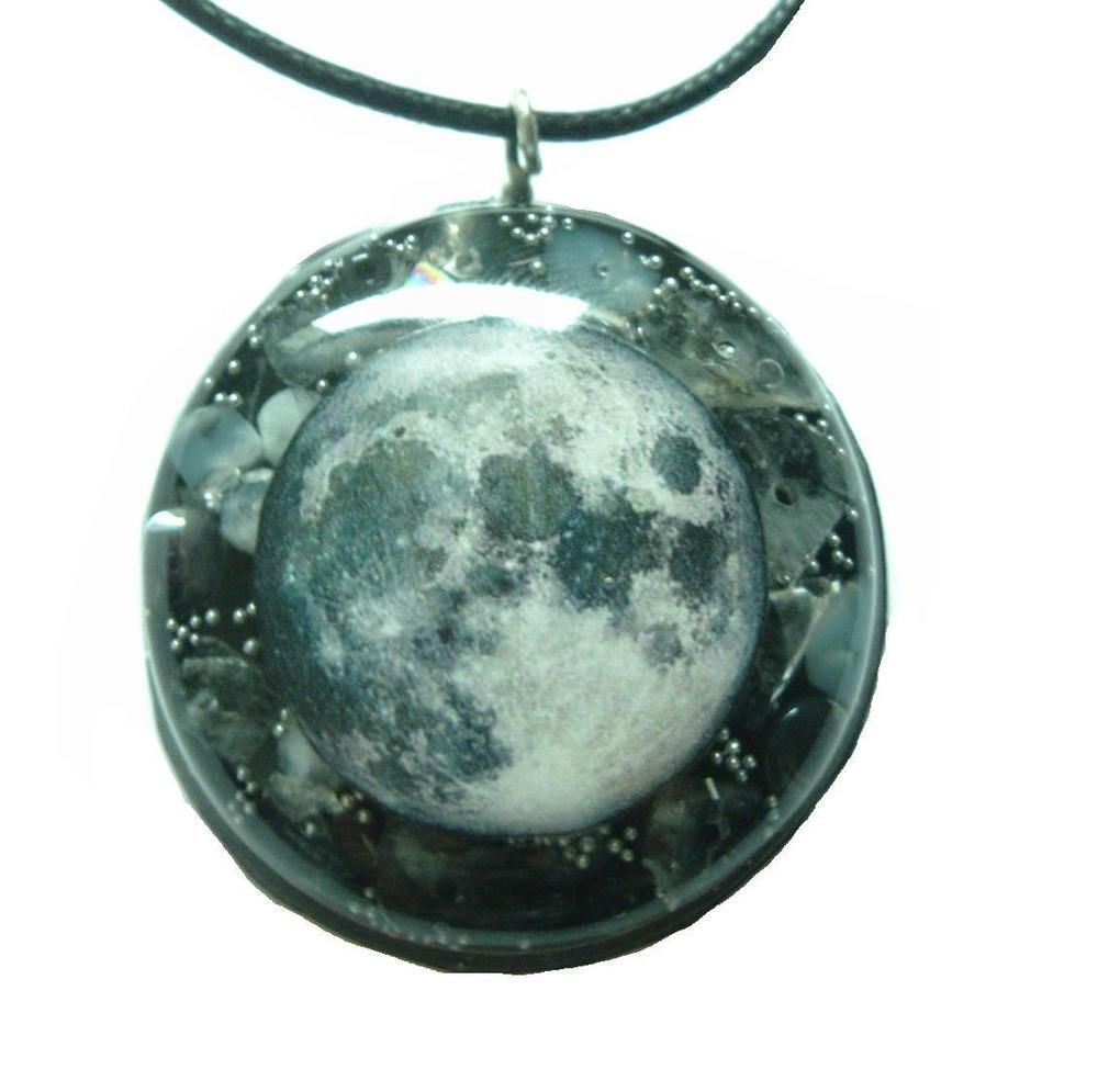 Moon - Orgone Pendant - Moonstone, Tourmalinated Quartz, Hematite, Clear Quartz in Everything Else, Metaphysical, Crystal Healing | eBay