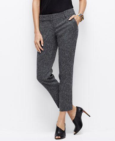 Slim Tweed Ankle Pants