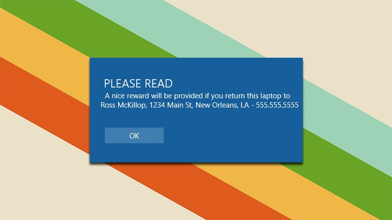 Add a Custom Message to Windows 10\u0027s Login Screen With Your Contact