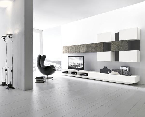 Parete Attrezzata Presotto - ModulArt 223 - Living Room   Стиль ...