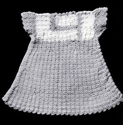 Vintage Shell Stitch Dress Pattern Free Crochet Baby