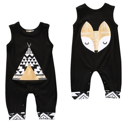 5a941511202f Summer arrival cute kid rompers Cotton Toddler Kids Baby Boy Girl ...