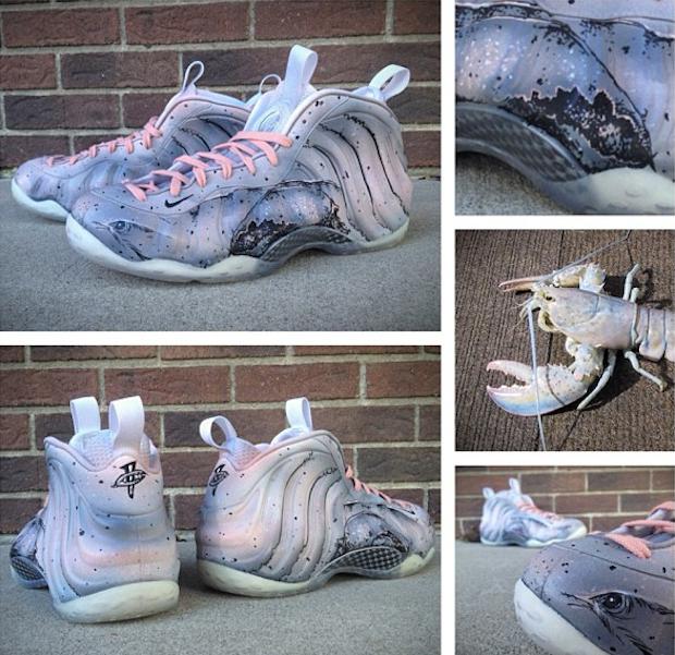 """d44f3cc24d1e Nike Air Foamposite One """"White Lobster"""" Custom"""
