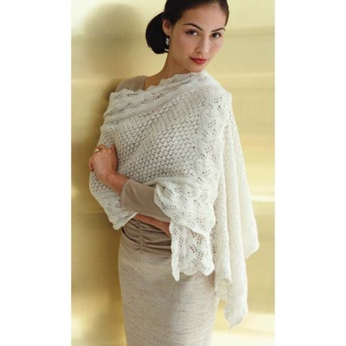 Wedding Shawl Approx 23 X 65 Experienced Level Free Knit Very Pretty Vogue Knitting Crochet Shawls And Wraps Wedding Shawl