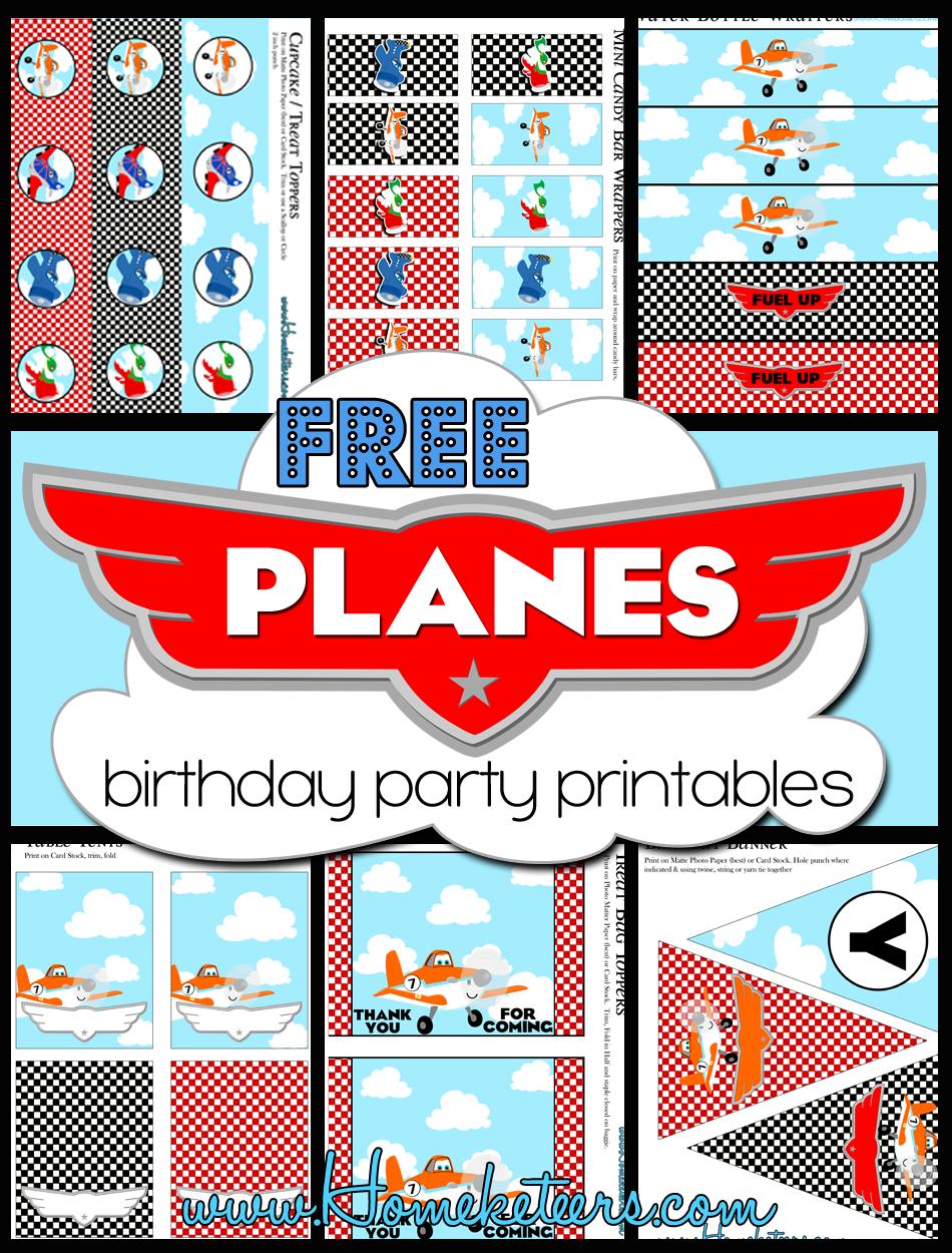 Free Disney S Planes Birthday Party Printables Verjaardagsfeestjes Verjaardag Verjaardag Feest