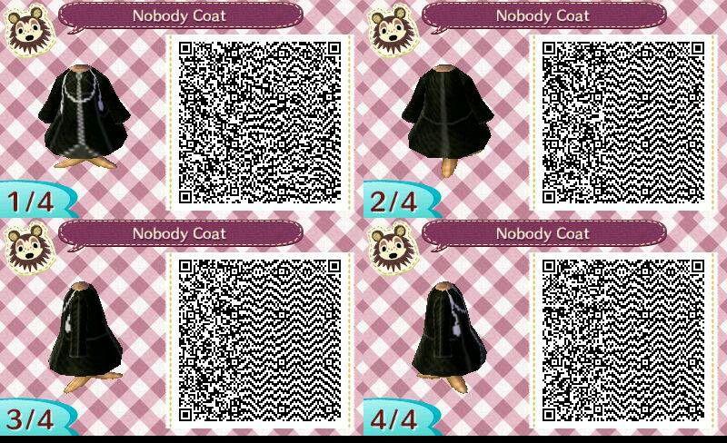 Organization 13 Coat Kingdom Hearts Qr Code Google Search Animal Crossing Qr Animal Crossing Qr Codes Clothes Qr Codes Animal Crossing