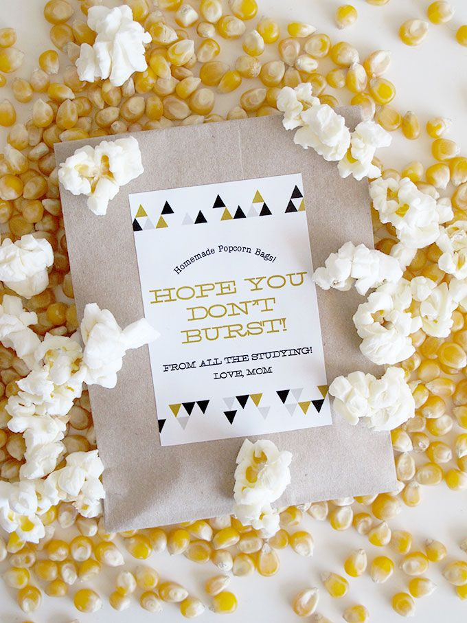 Diy Mini Popcorn Favor Bags