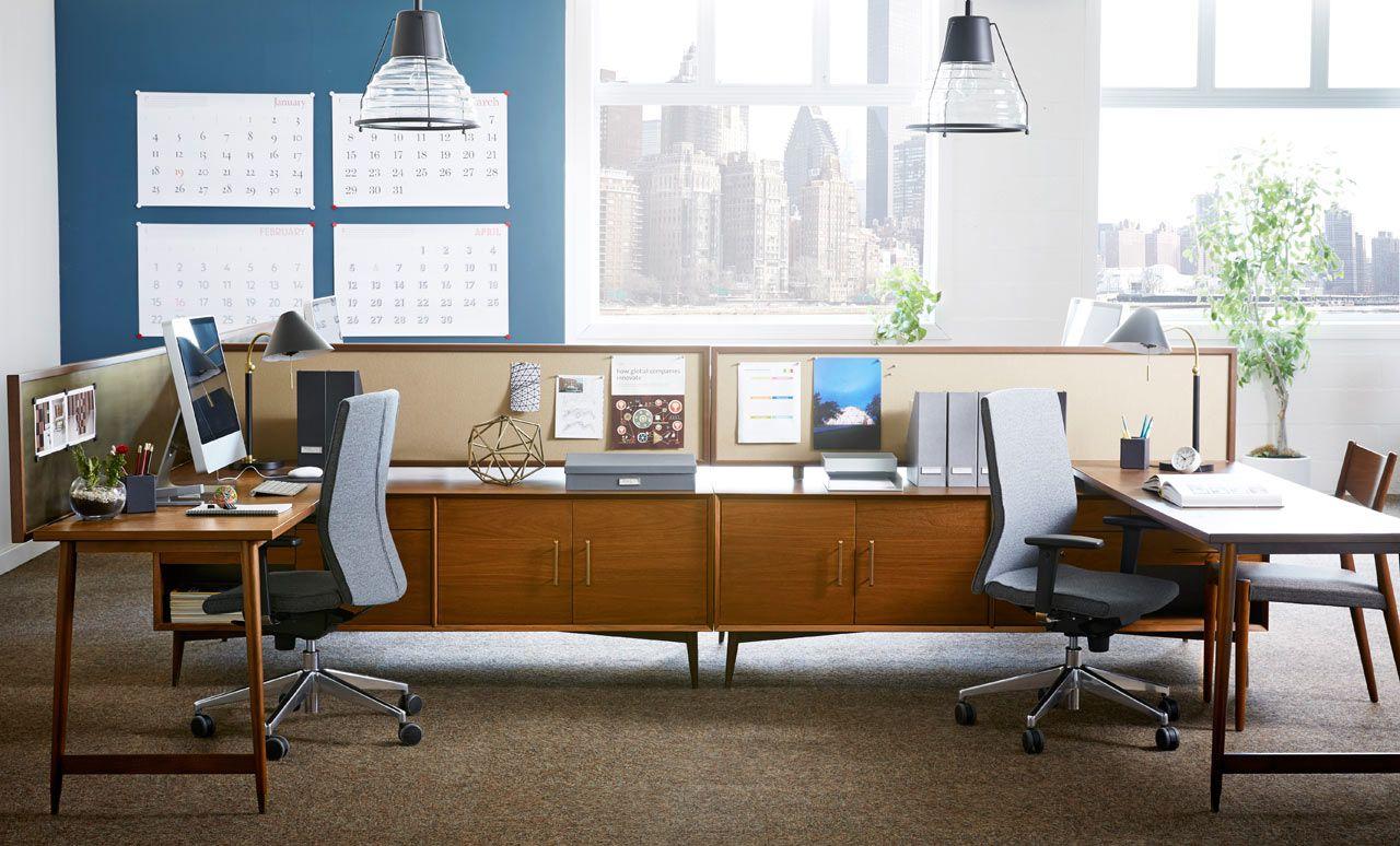 workspace furniture office interior corner office desk. Corner Office · West-Elm-Workspace-2-Mid-Century Workspace Furniture Interior Desk A