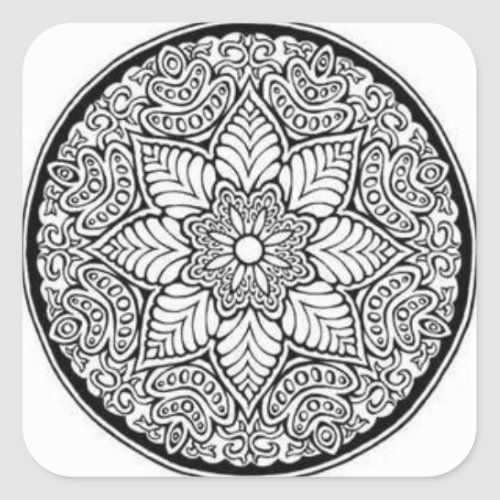 Geometric Stickers Zazzle Com In 2021 Mandala Coloring Pages Detailed Coloring Pages Pattern Coloring Pages