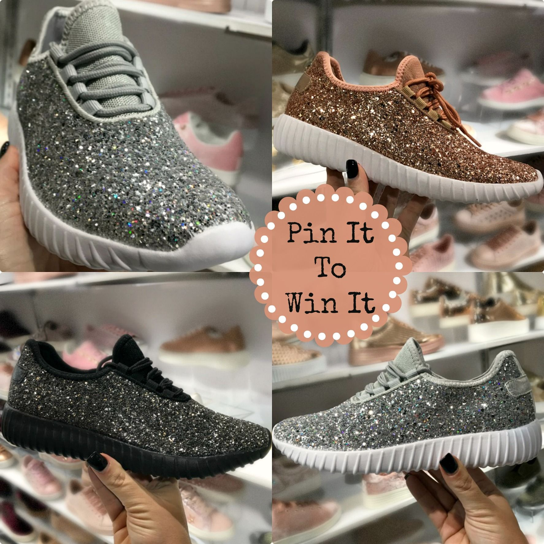 Our gorgeous Glitter Bomb Sneakers make the perfect statement for