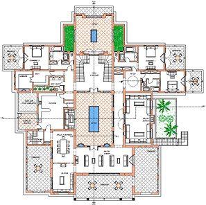 Plan of villa, ground floor - Oasis Bab Atlas Marrakech | Moroccan ...
