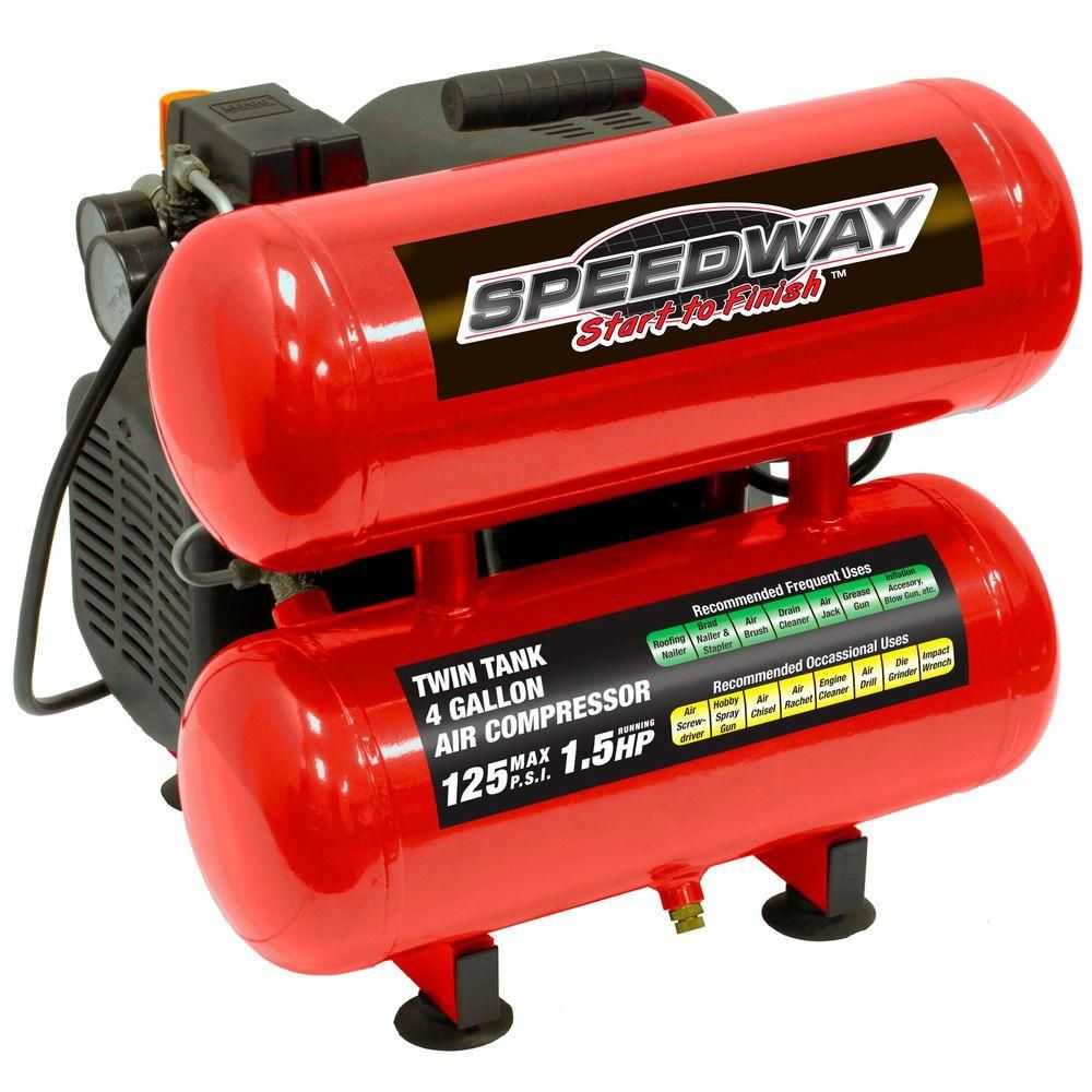 SPEEDWAY 4 Gal. 1.5 HP TwinStack Oil Lube Electric Air