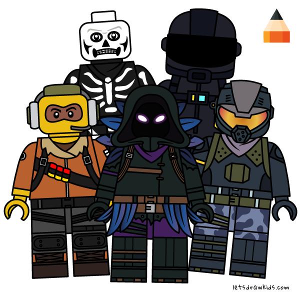 Fortnite Lego Minifigures Drawing Lego Fortnite Fornite Battle