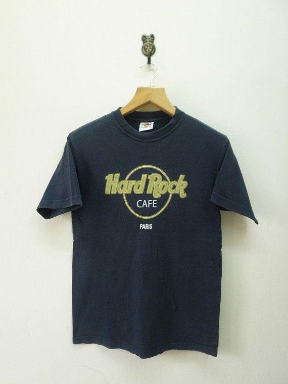 15a25d5de82e3 Vintage 90's Hard Rock Cafe Paris T-Shirt by RetroFlexClothing ...