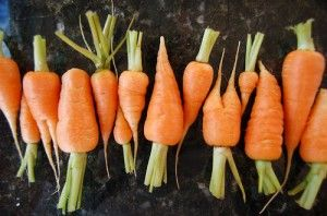 Baby carrots and other prepackaged fruits and veggies are washed in chlorine... Uh that is NOT OK!