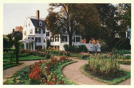 Formal Garden At Ropes Mansion 318 Essex Street Salem