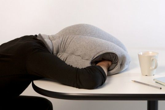 Need A Power Nap At Work Bury Your Head In The Ostrich Pillow