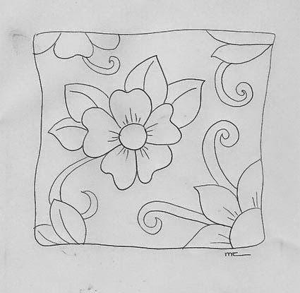 Pintura en tela almohadones con flores todo pintura en - Patrones para pintar en tela ...