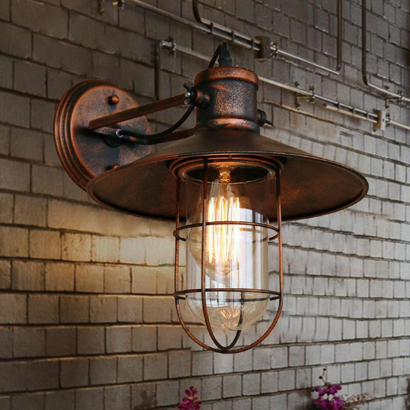Details About Antique Retro Copper Wall Light Vintage Rustic Led Wall Sconce Fixture Outdoor Copper Wall Light Industrial Wall Lights Rustic Wall Lighting